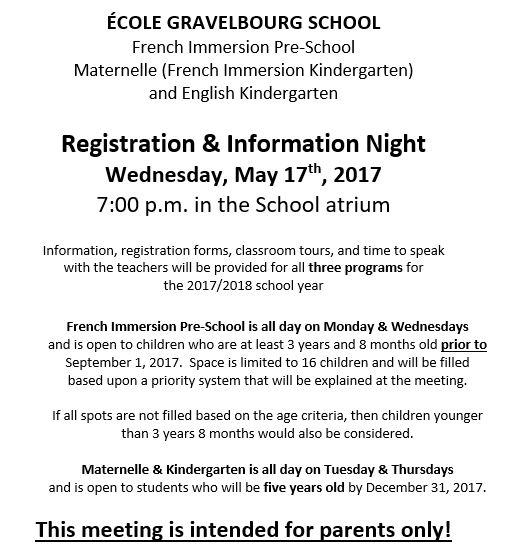 Registration Night